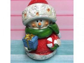 """Форма """"Снеговик с леденцом и подарком"""" 90 гр"""