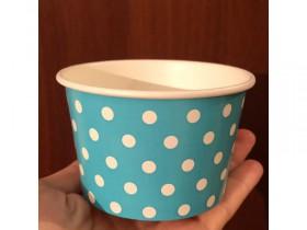 Креманка голубая с глянцевого плотного картона