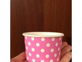 Креманка Розовая с плотного глянцевого картона