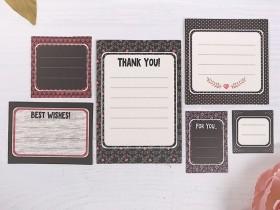 """Набор карточек для журналинга """"С наилучшими пожеланиями!"""", 6 шт"""