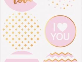 Наклейки «Розовое настроение», 9 × 16 см