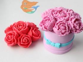 """Форма """"Шляпная коробочка""""  5,5*4 см отдельно от цветов"""