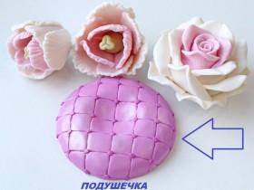 Подушечка в купол (подставка в цветы)