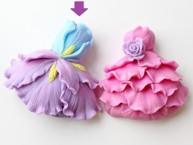 """Форма """"Цветочное платье""""+ лист картинок для платья"""