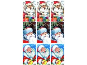 Картинки Дед Мороз 3 (круп.план) 8на5см дизайн