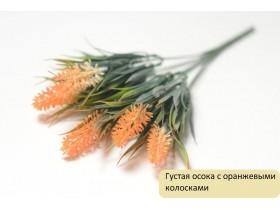 Зелень Густая осока с оранжевыми колосками