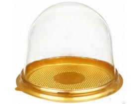 Купольная упаковка с золотым дном