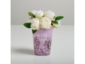 "Стаканчик для цветов ""With love"""