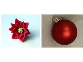 """Форма """"Рождественский цветок и шар новогодний""""пара"""