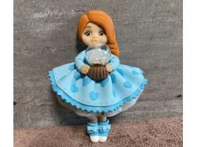 """Форма """"Куколка Анюта в голубом платье"""""""