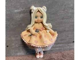 """Форма """"Куколка Регина в персиковом платье"""""""