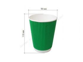 Гофра зелёная 11*9 см