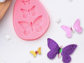 """Молд силиконовый 7,5х6х1 см """"Бабочки"""""""