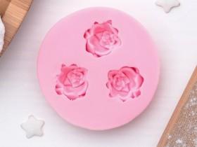 """Молд силиконовый 5 см """"Три малых розы"""""""