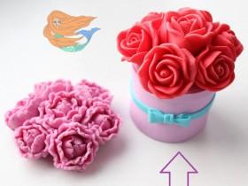 Шапка роз для шляпной коробочки диаметр 8 см