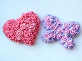 Форма Сердце из роз