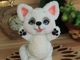 "Форма ""Хочу на ручки -Белый котёнок"""