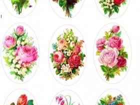 """Картинки Овалы 1 """"Цветы"""""""
