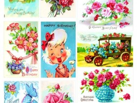 """Картинки """"С Днём рождения"""" на англ языке (дизайн)"""