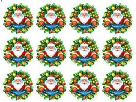 НАКЛЕЙКИ круглые С Новым Годом 2 (D4,8см) дизайн