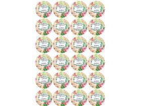НАКЛЕЙКИ круглые РУЧНАЯ РАБОТА №2 (24 шт) дизайн