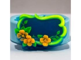 """Силиконовая формочка для мыла """"Рамка с цветами"""""""