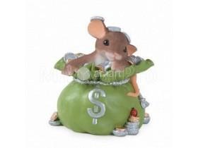 """Силиконовая формочка для мыла """"Мышка денежная"""""""