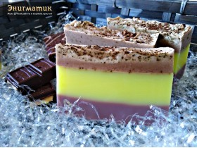 """Мыло """"Шоколадно-лимонный торт"""""""