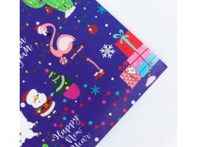 Бумага упаковочная крафтовая Happy new year, 50 × 70 см