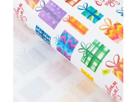 Бумага упаковочная крафтовая «Новогодние подарки», 50 × 70 см